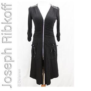 Joseph Ribkoff Ruched Art to Wear Knit Jacket Sz 2